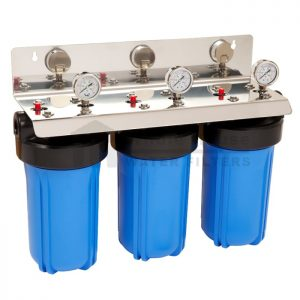 """""""triple big blue whole house water filter system 10 inch"""""""