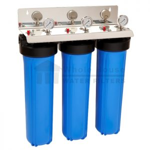 """""""triple big blue whole house water filter system 20 inch"""""""