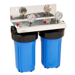 """""""twin big blue whole house water filter system 10 inch"""""""