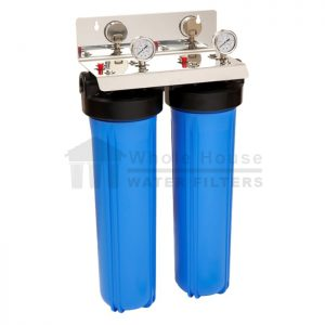 """""""twin big blue whole house water filter system 20 inch"""""""